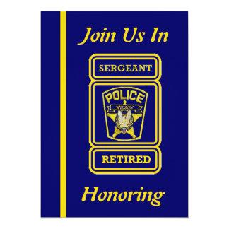 "Police Sergeant Retirement Invitation 5"" X 7"" Invitation Card"