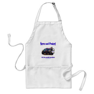 Police Serve and Protect Adult Apron