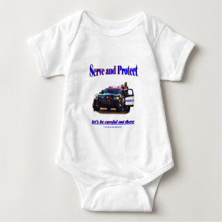 Police Serve and Protect Baby Bodysuit