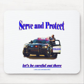 Police Serve and Protect Mouse Pad