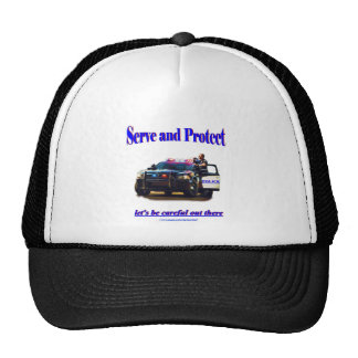 Police Serve and Protect Trucker Hat