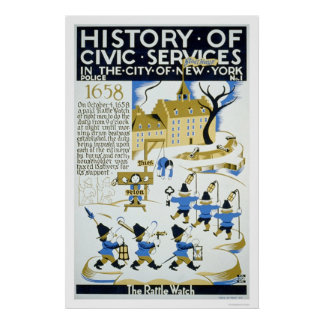 Police Services NYC 1936 WPA Poster
