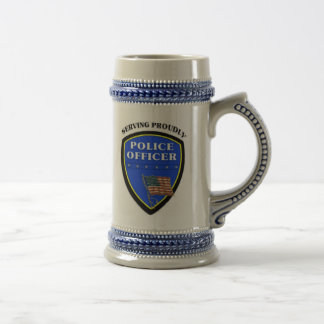Police Serving Proudly 18 Oz Beer Stein