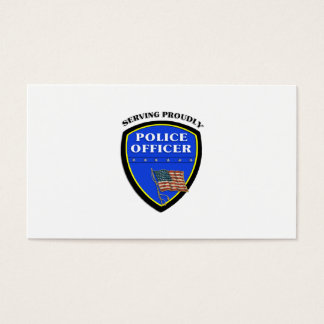 Police Serving Proudly Business Card