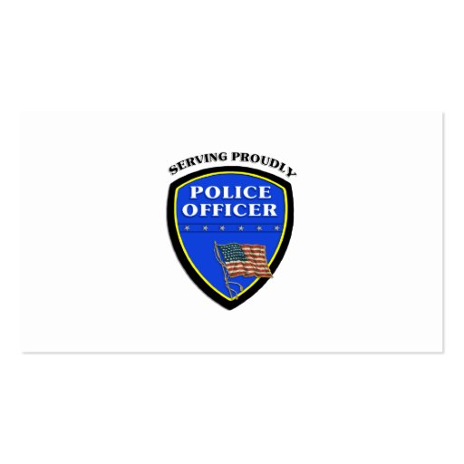 Police Serving Proudly Business Card Templates