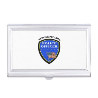 Police Dept Business Card Holders Personalized for the police chief, police officers, detectives, K-9 officers, police dispatchers and more!  Visit my Police Officer business card holder section to see the full selection........
