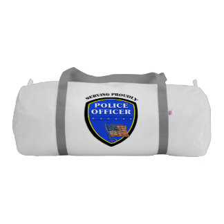 Police Serving Proudly Duffle Bag
