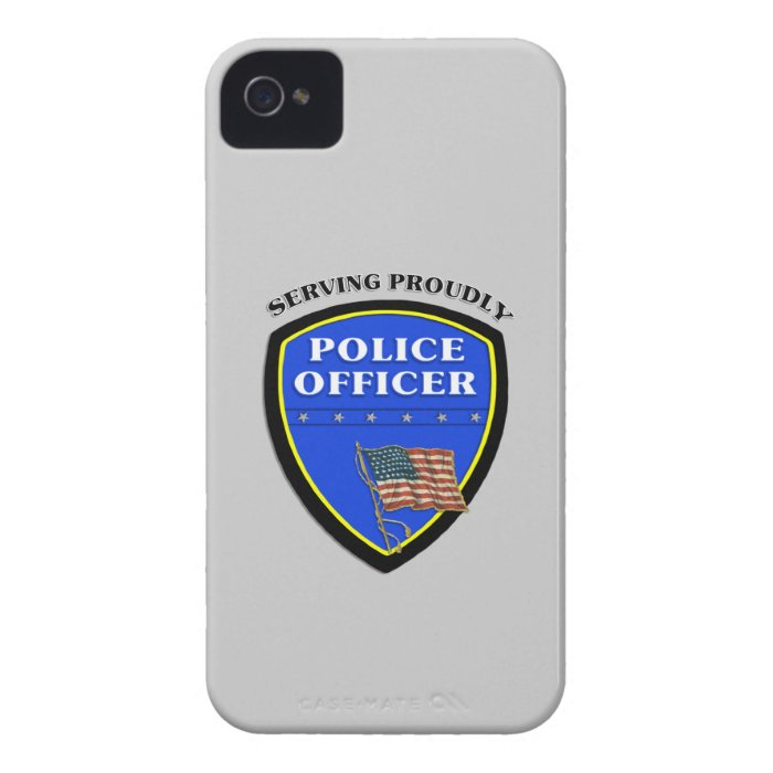 Police Serving Proudly iPhone 4 Case
