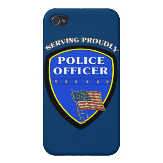 Police Serving Proudly iPhone 4 Cases