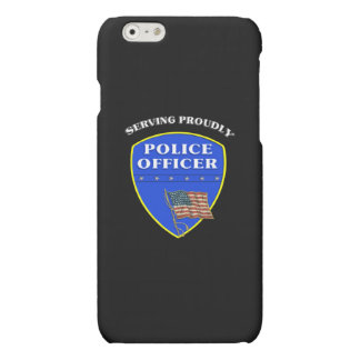 Police Serving Proudly Matte iPhone 6 Case