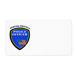 Police Serving Proudly Label
