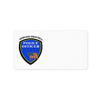 Police Serving Proudly Address Label