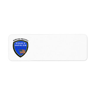 Police Serving Proudly Return Address Label