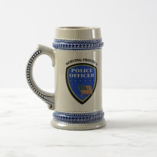 Police Serving Proudly mug