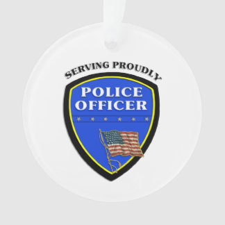 Police Serving Proudly Ornament