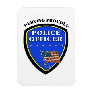 Police Serving Proudly Rectangular Photo Magnet