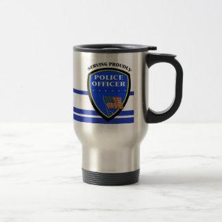 Police Serving Proudly Travel Mug