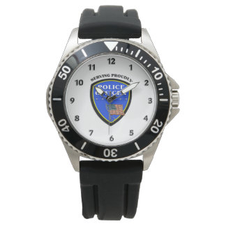 Police Serving Proudly Wrist Watch