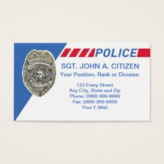 police sheriff deputy law enforcement card