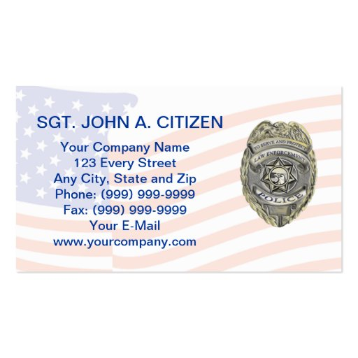 police sheriff deputy law enforcement card business card templates