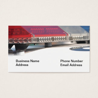 Police Siren Lights on Car Business Card
