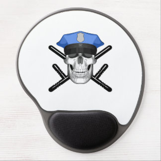 Police Skull and Batons Gel Mouse Pad