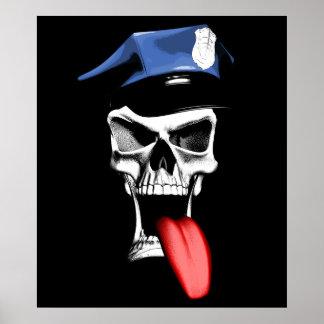 Police Skull Poster