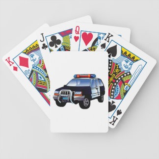 Police Sport Utility Vehicle (SUV) Bicycle Playing Cards