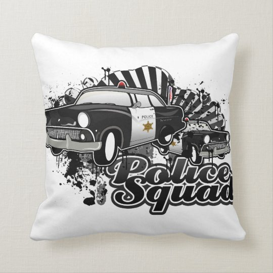 Police Squad Throw Pillow