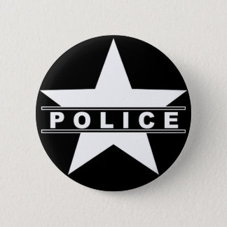 police star text department badge law symbol button