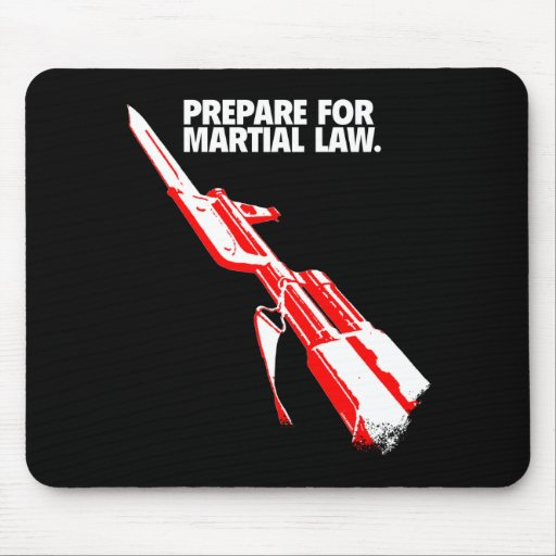 POLICE STATE MARTIAL LAW MOUSEPADS