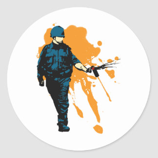 Police State - Pepper Spray Classic Round Sticker