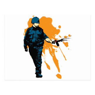 Police State - Pepper Spray Postcard