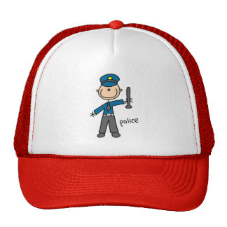 Police Stick Figure Hat