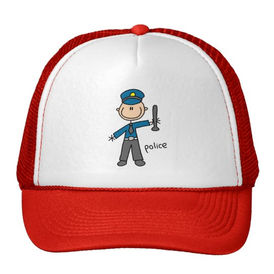Police Stick Figure Hat