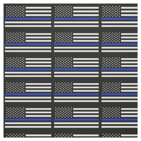 Police Style American Flag Fabric