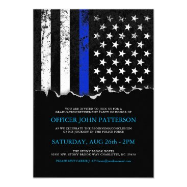 evented Police Style American Flag Party|Event Invitation