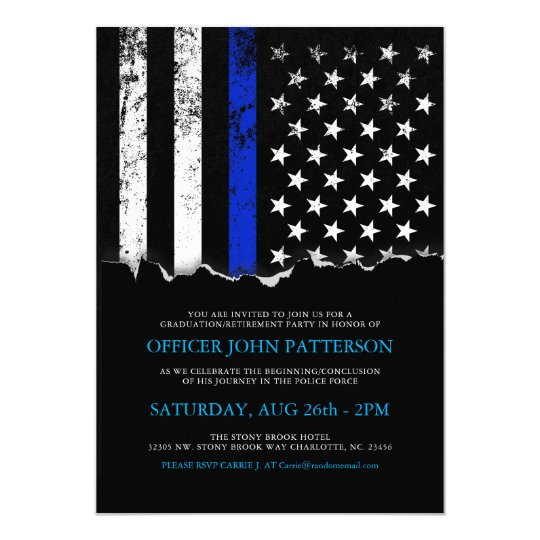 Police Style American Flag PartyEvent Invitation  ZazzleCom