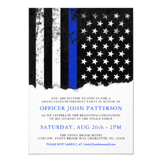 Police Style American Flag Party|Event WHT invite