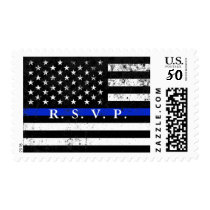 Police Styled American Flag RSVP Postage