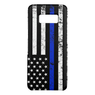 Police Styled Distressed American Flag Case-Mate Samsung Galaxy S8 Case