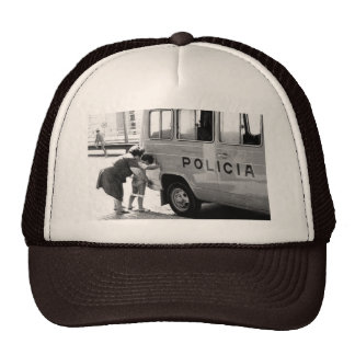 Police sun mesh hats