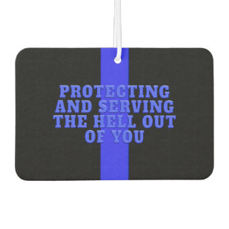 Police Supporter Thin Blue Line Car Air Freshener