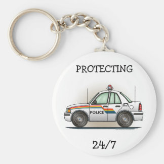 Police SUV Cruiser Car Cop Car Keychain