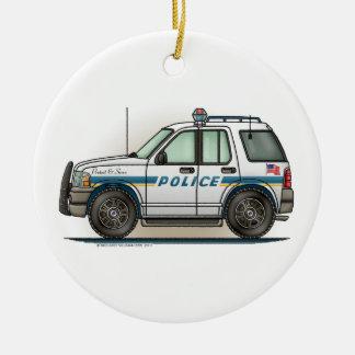 Police SUV Cruiser Car Cop Car Ornament