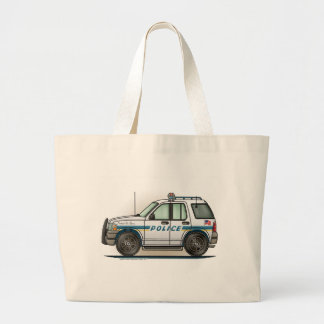 Police SUV Cruiser Car Cop Car Tote Bag