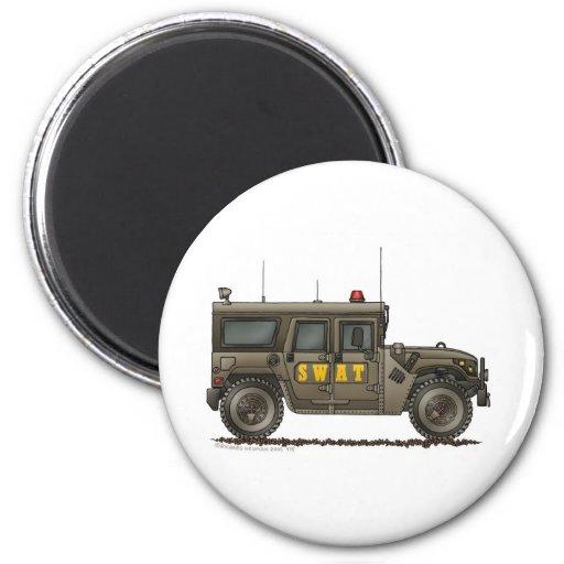 Police SWAT Team Hummer Law Enforcement 2 Inch Round Magnet