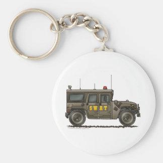 Police SWAT Team Hummer Law Enforcement Basic Round Button Keychain
