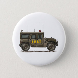 Police SWAT Team Hummer Law Enforcement Button