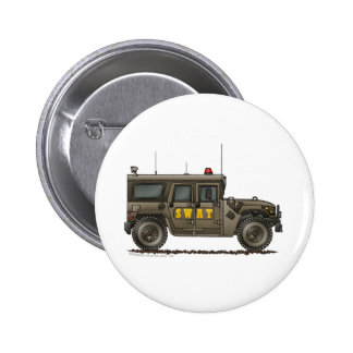 Police SWAT Team Hummer Law Enforcement Button